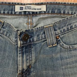 Gap Original Ultra Low Rise Cropped Rolled Jean 8R